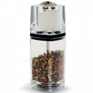 Retro Pepper Mill with Salt Shaker